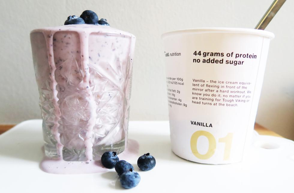 blåbärs milkshake