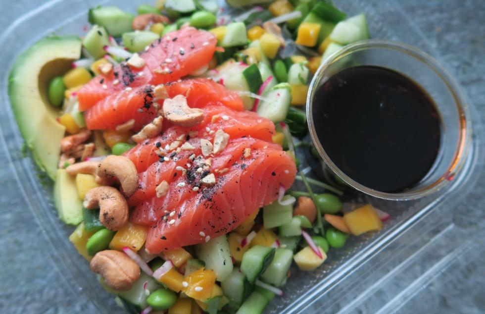 Sashimi sallad