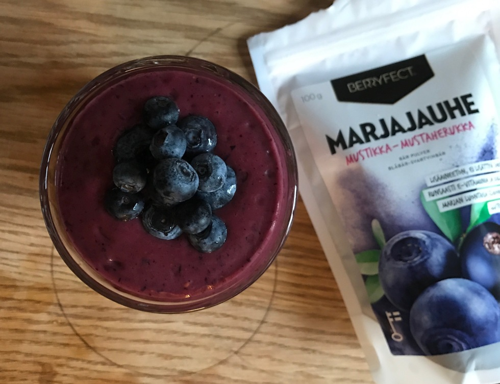 blåbär vegan smoothie