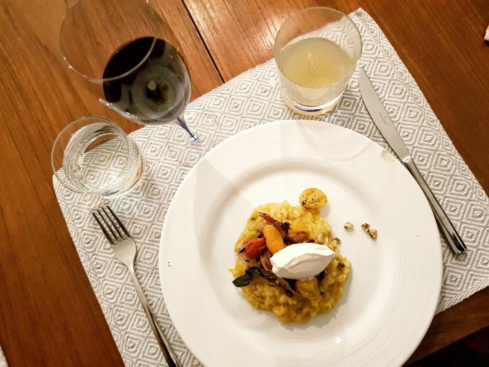 Pumparisotto med mascarpone och mandel