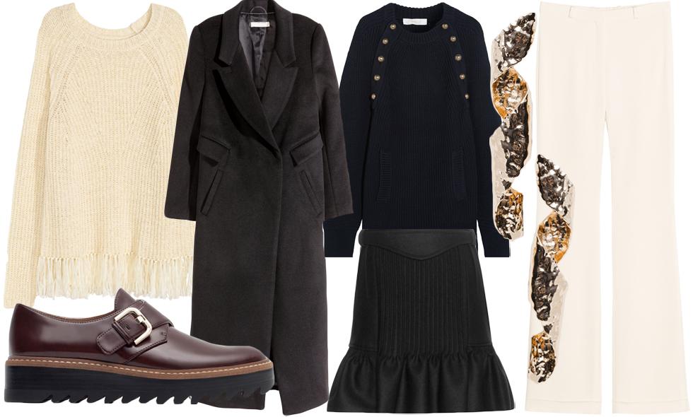 Moderedaktören tipsar om veckans bästa köp i marinblått, svart och krämvitt