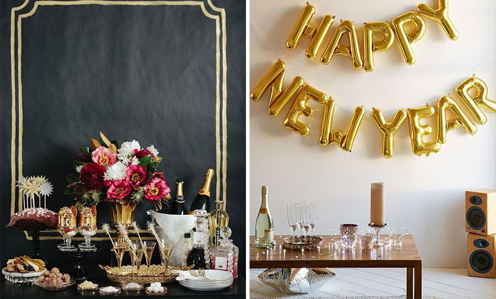 9 enkla tips på festliga dukningar till nyårsafton