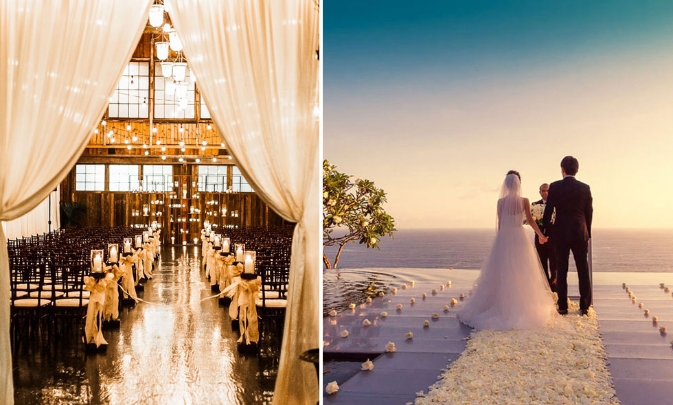 10 magiska platser perfekta för ditt drömbröllop