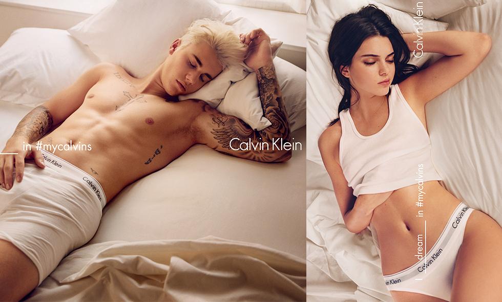 Justin Bieber och Kendall Jenner i Calvin Kleins nya sexiga kampanj