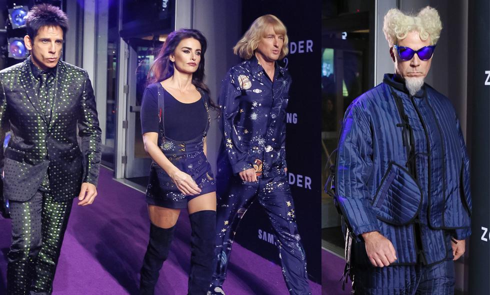 Modevisning och kändisar på Zoolander 2 premiären i New York