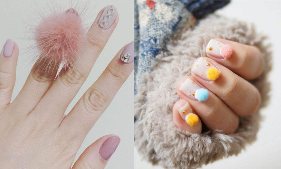 Pom-poms på naglarna är vårens coolaste skönhetstrend