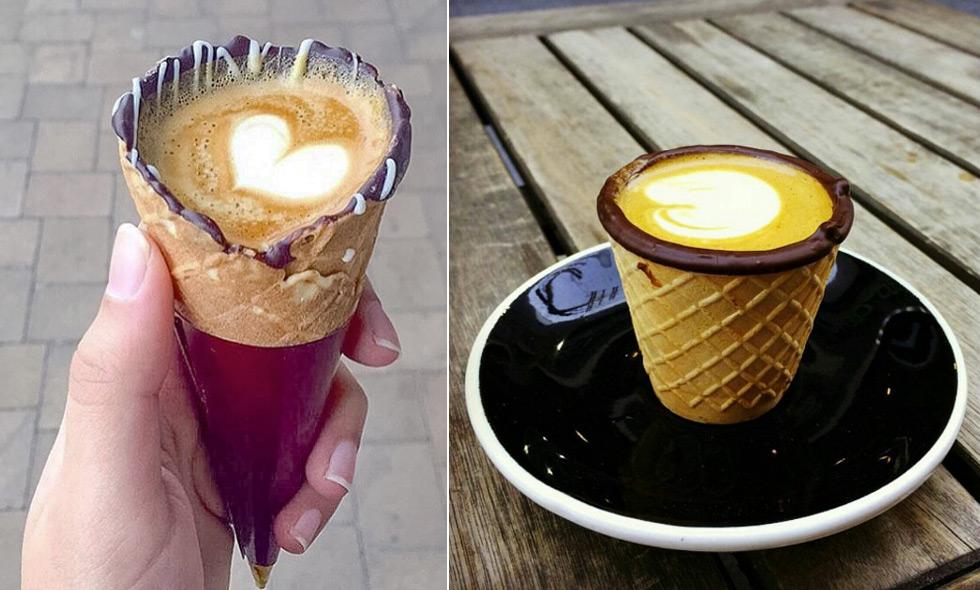 Kaffestruten (coffee in a cone) är instagrams nya favoritkaffe