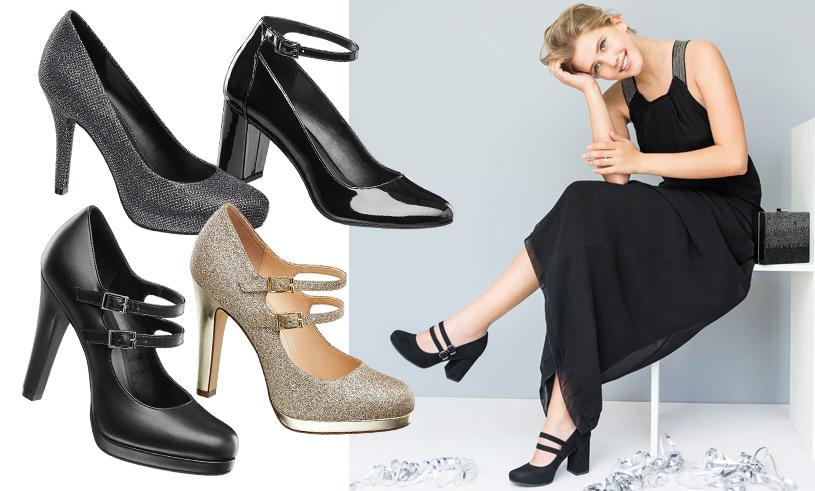 Snyggaste skorna till vinterns alla fester – 8 pumps i metallic och svart