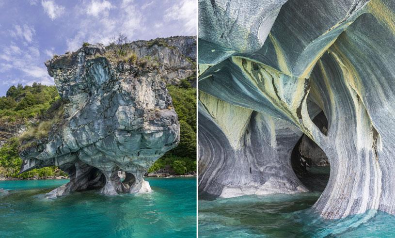 De blåvirvlande marmorgrottorna i Chile är vårt nya drömresmål