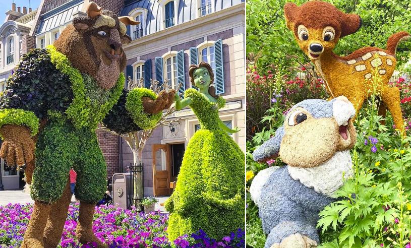 Se alla magiska Disney-karaktärer på Epcot Parks internationella trädgårdsfestival