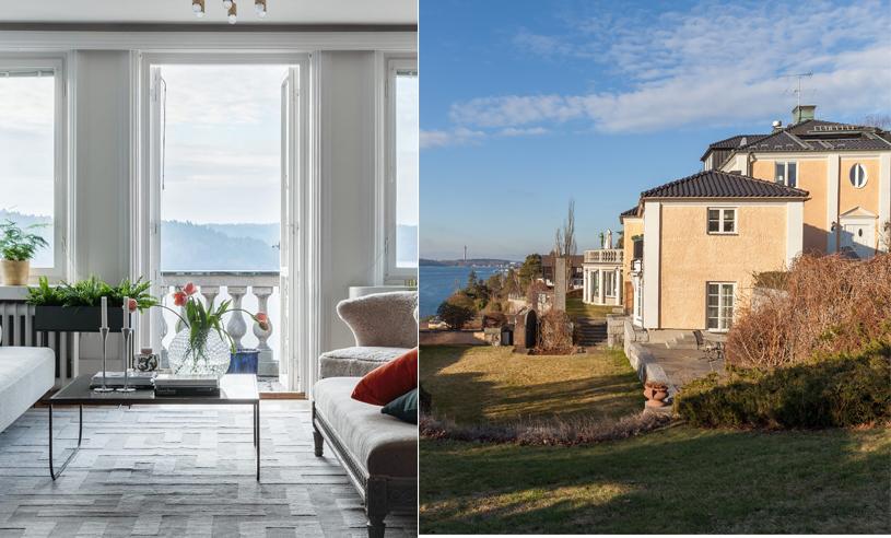Veckans hem har sparsmakad och stilsäker inredning (och en utsikt att dö för)!
