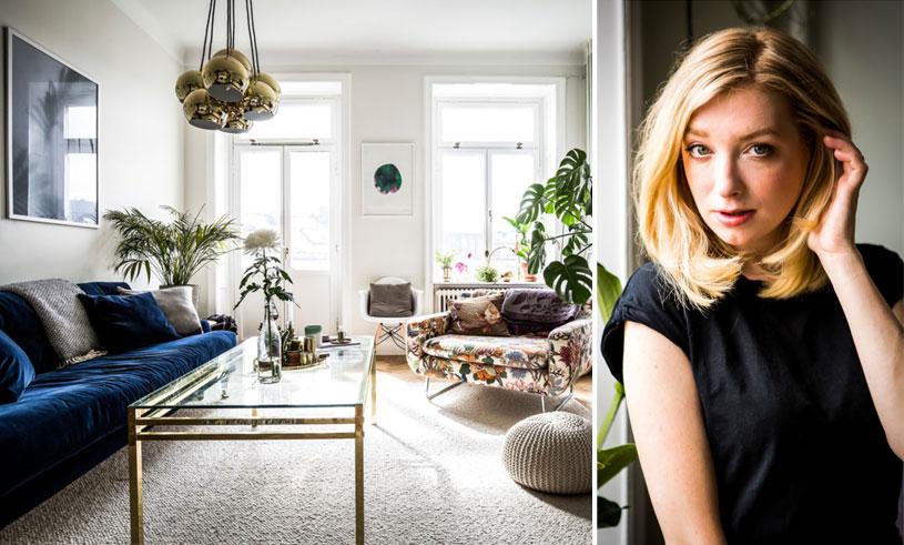 Kika in i Sandra Beijers drömmiga och personliga hem mitt på Södermalm