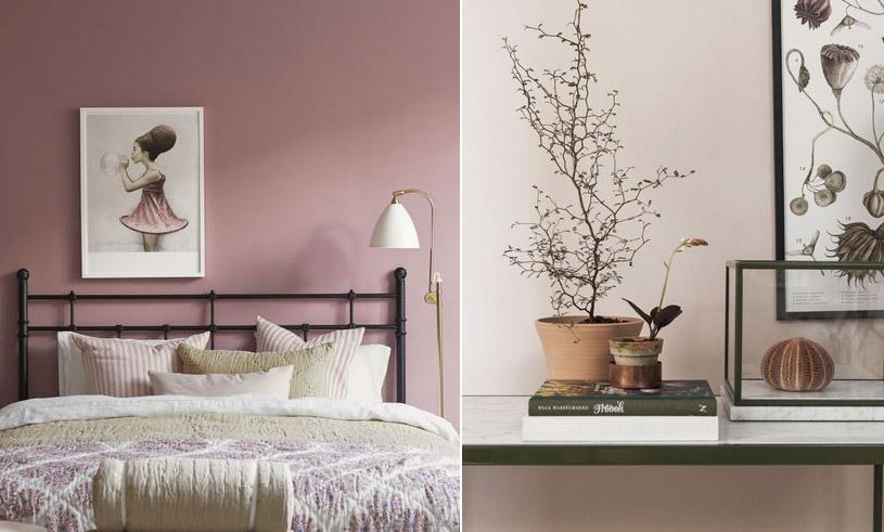 Rosa är snyggaste väggfärgen just nu! Här är de trendigaste nyanserna 2017