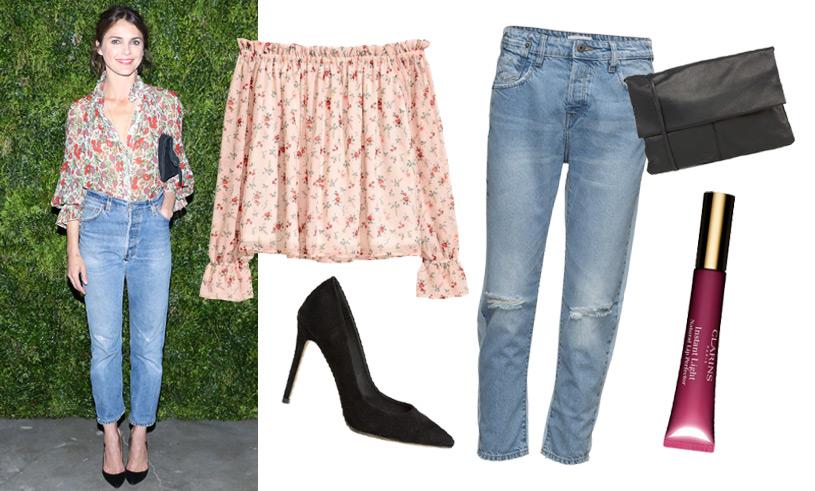 Så fixar du sommarens snyggaste AW-look med blommig blus och stilsäkra jeans