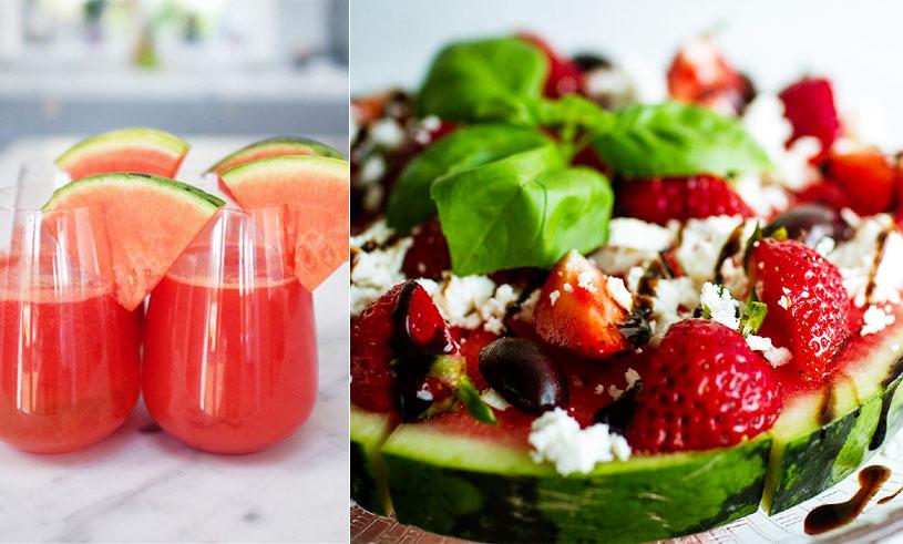 Juice, glass, sallad och pizza – 6 recept med sommarens godaste ingrediens vattenmelonen