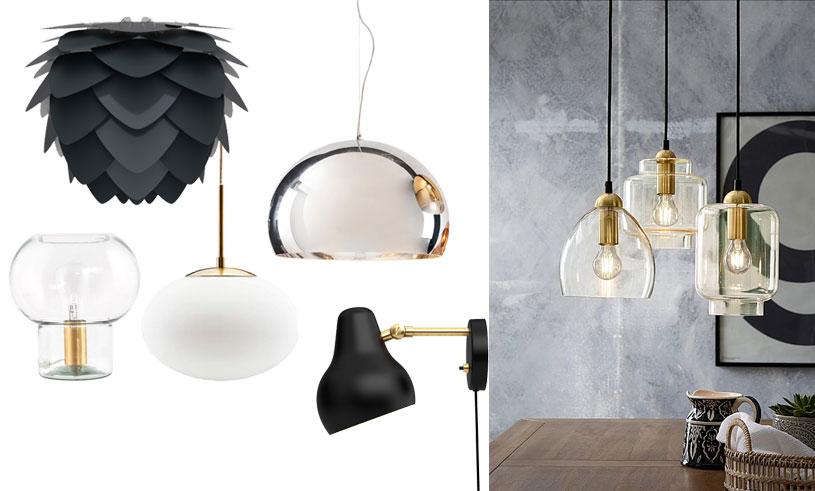 Metall, glas och svart – 12 lampor som ger ditt hem det lilla extra